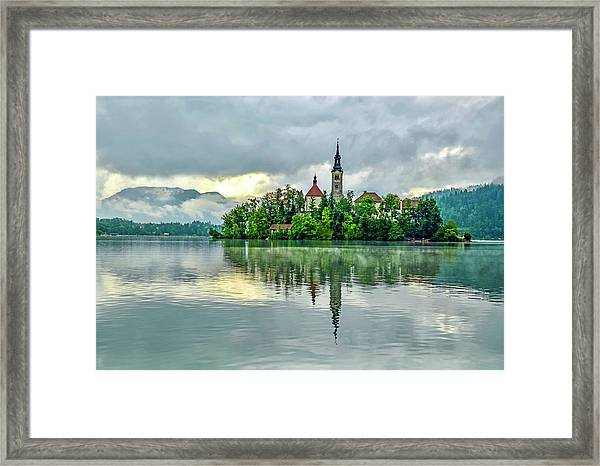 Bled At Sunrise Framed Print