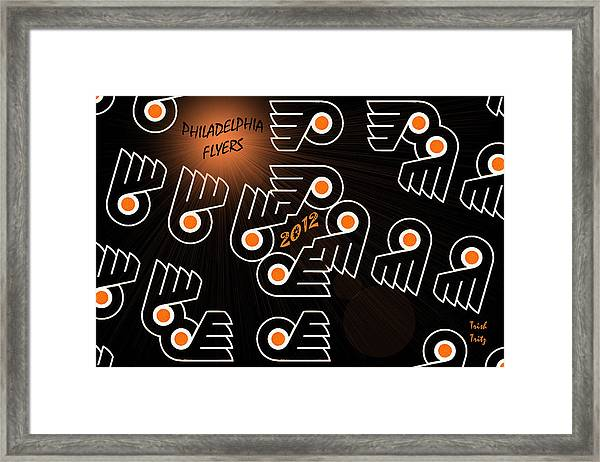 Bleeding Orange And Black - Flyers Framed Print