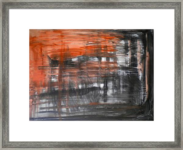 Bleeding Through Framed Print