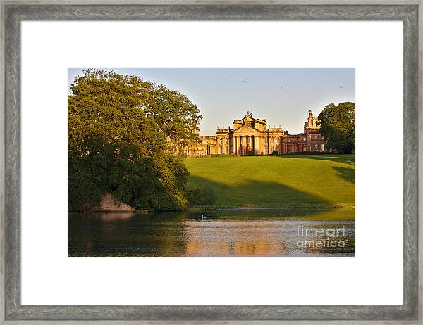 Blenheim Palace And Lake Framed Print