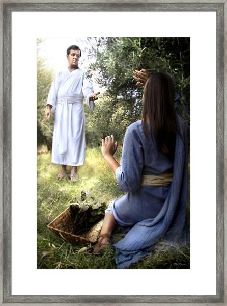 Blessed Art Thou Among Women Framed Print