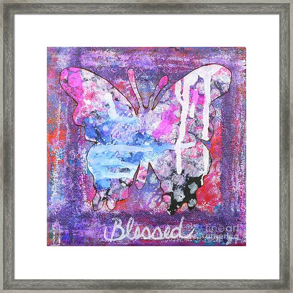 Blessed Butterfly Framed Print