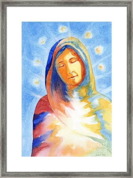 Blessed Mother Framed Print by Juanita Yoder