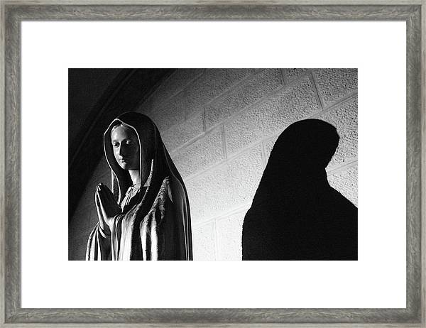 Framed Print featuring the photograph Blessed Virgin Of Fiesole Italy by Matthew Wolf
