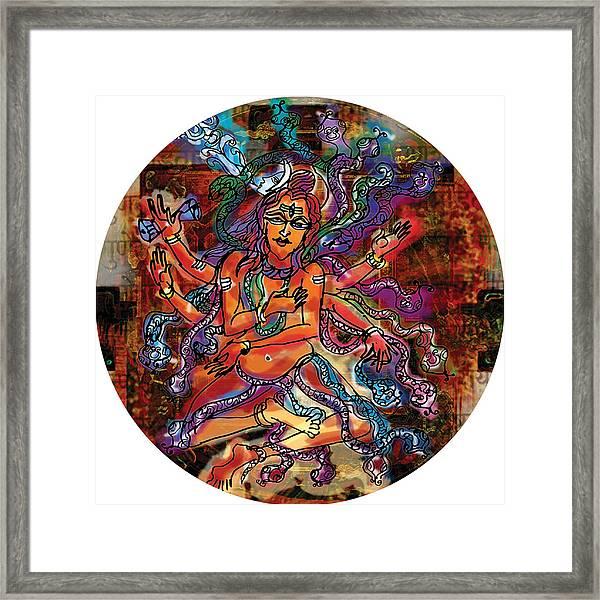 Blessing Shiva Framed Print