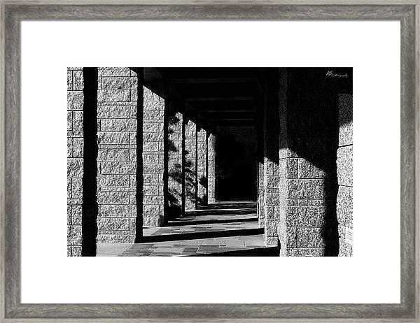Blind Path Of Life Framed Print