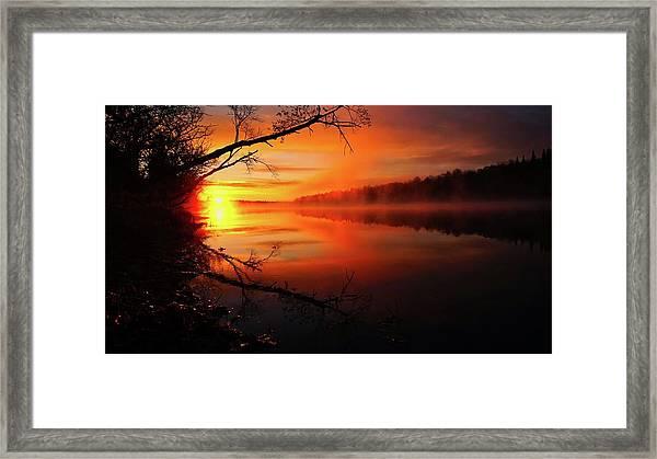 Blind River Sunrise Framed Print