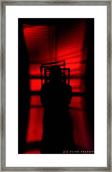 Blind Shadow Framed Print by Jonathan Ellis Keys