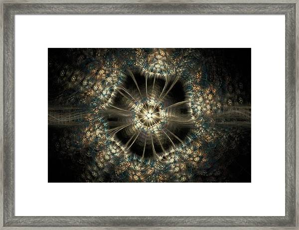 Blink - Digital Abstract Artwork  To Framed Print by Michal Dunaj