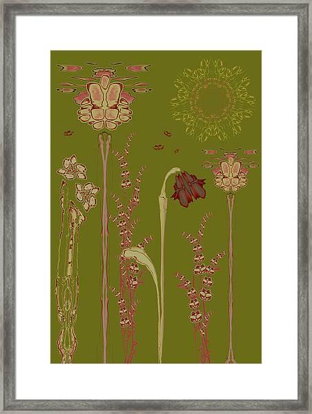 Blob Flower Garden Framed Print