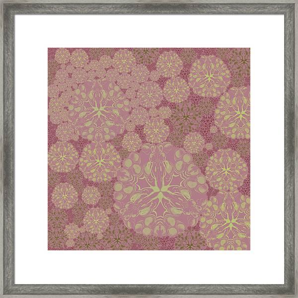 Blob Flower Painting #3 Pink Framed Print