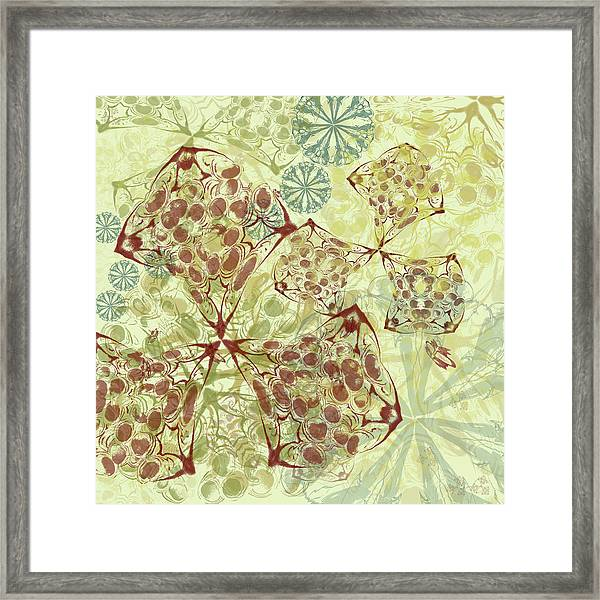 Blob Flower Painting #1 Pale Yellow Framed Print