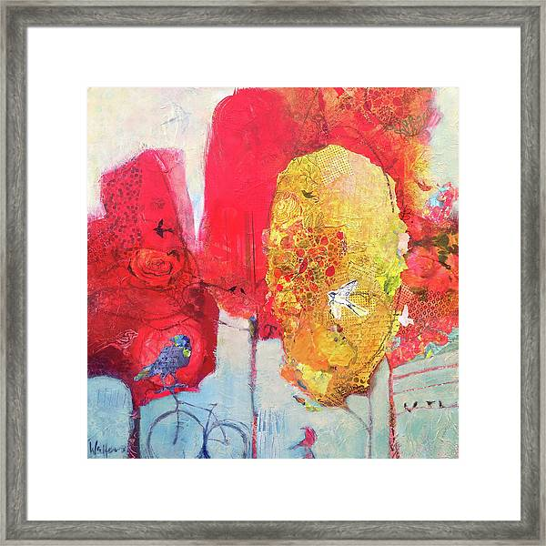 Framed Print featuring the painting Block Party by Shelli Walters
