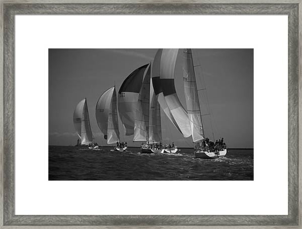 Blocking Your Wind Framed Print