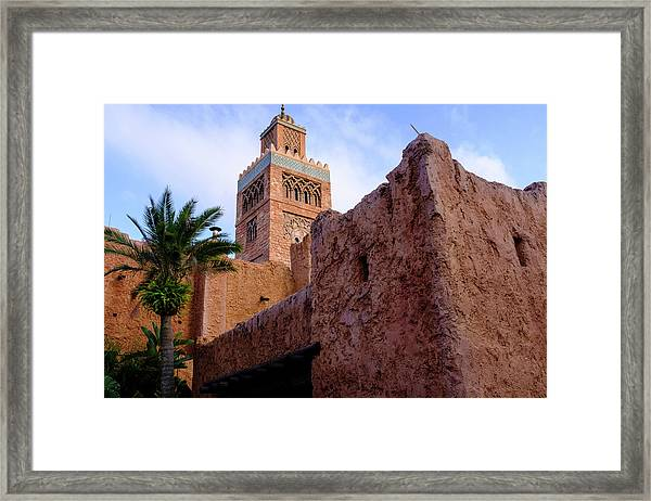 Blocks And High Tower Architecture From Orlando Florida Framed Print
