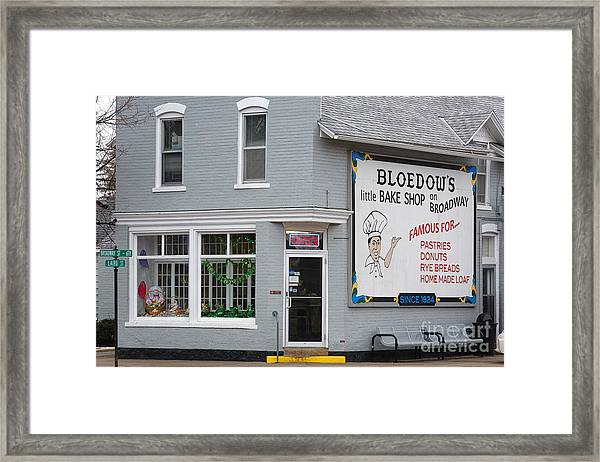 Framed Print featuring the photograph Bloedow's Bakery Winona Mn by Kari Yearous