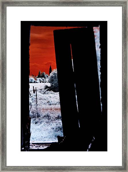 Blood And Moon Framed Print