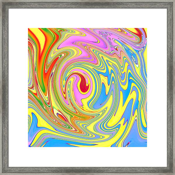 Blood In The Water Framed Print