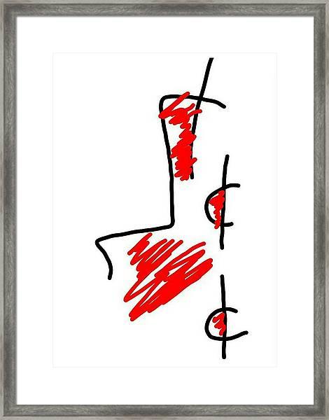 Blood Money Framed Print
