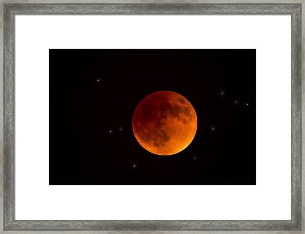 Blood Moon Lunar Eclipse 2015 Framed Print