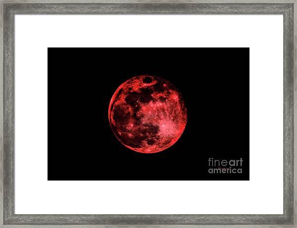 Blood Red Moonscape 3644b Framed Print