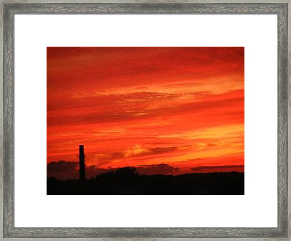 Blood-red Sky Framed Print