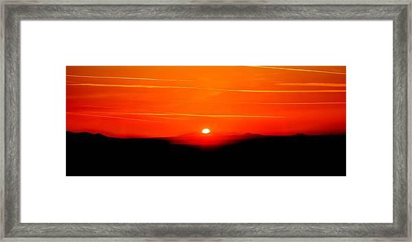 Blood Red Sunset Framed Print