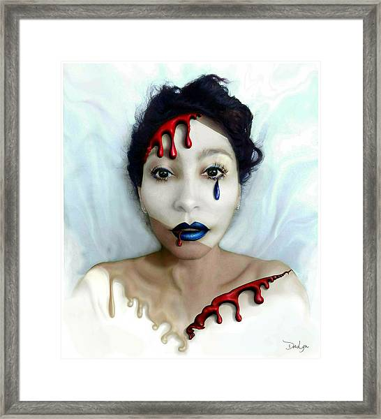 Blood Sweat Tears Faced Framed Print