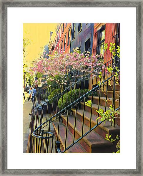 Blooms Of New York Framed Print