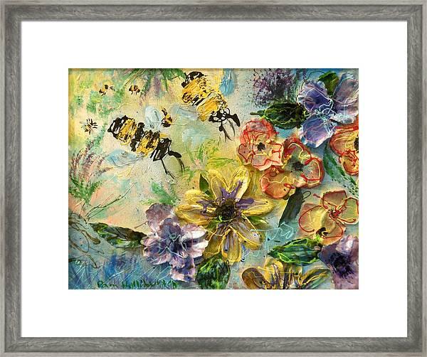 Blossom Buzz Framed Print