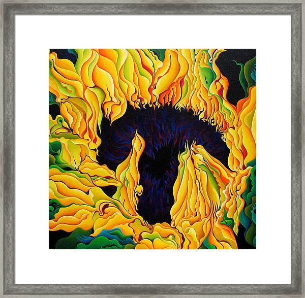 Blossomonious Yellow Trip Framed Print