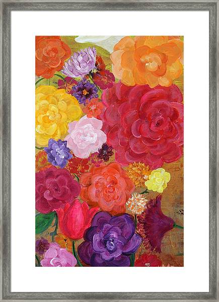 Blossoms By The Sea Detail Framed Print by Sabra Chili