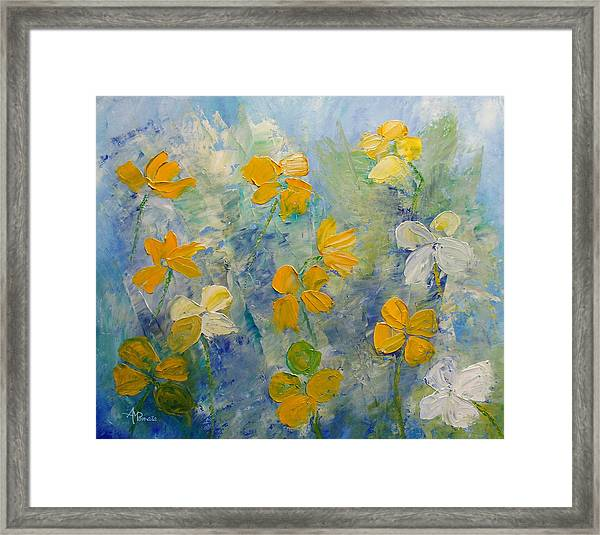 Blossoms In Breeze Framed Print