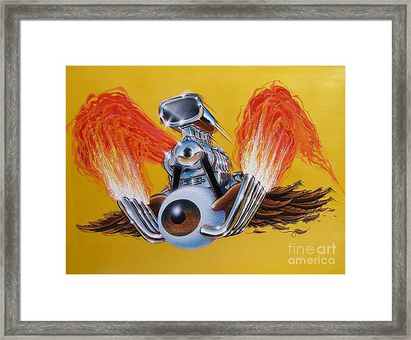 Blown Eyeball Framed Print
