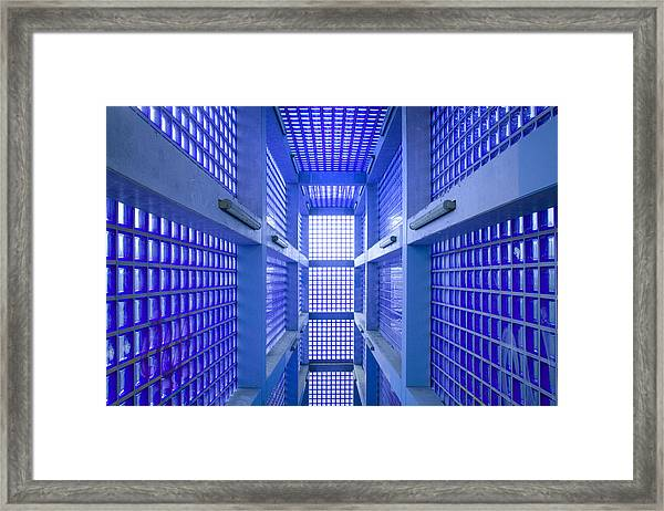 Blue 2 Framed Print by Marc Huebner