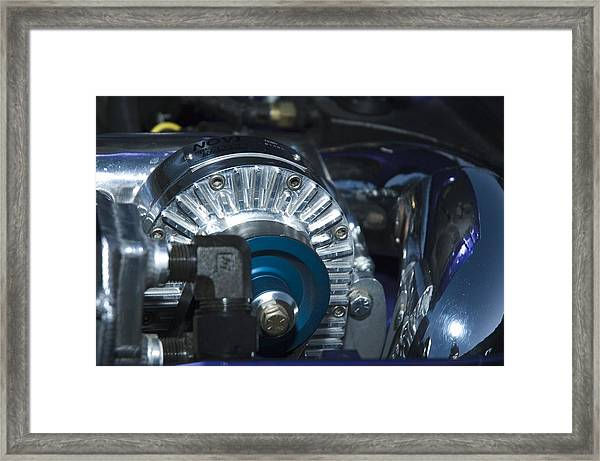 Blue And Chrome My Favorite Color Combo Framed Print
