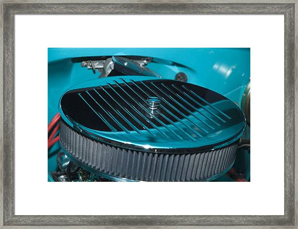 Blue And Grey Air Filter Framed Print