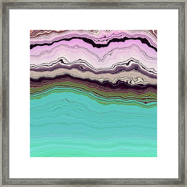 Blue And Lavender Framed Print