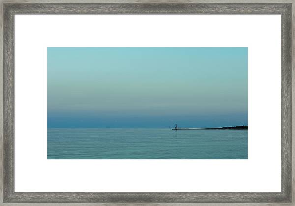 Blue And Peaceful Framed Print