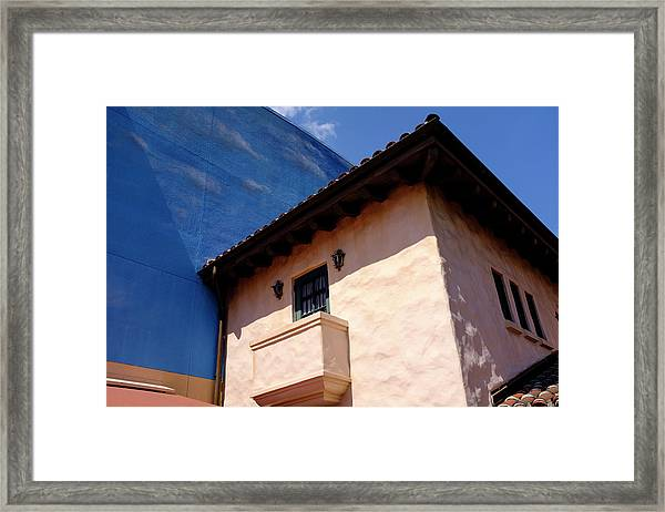 Blue And Vintage Color Architecture Photo In Saint Augustine Flo Framed Print