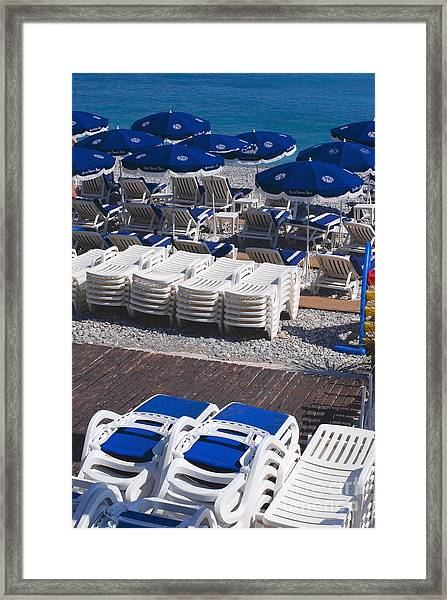 Blue And White Framed Print by Andrea Simon
