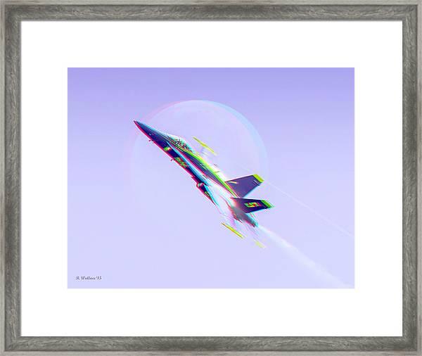 Blue Angel - Blue Moon - Use 3d Glasses Framed Print
