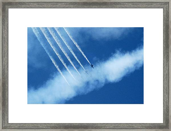 Blue Angel Symmetry Framed Print