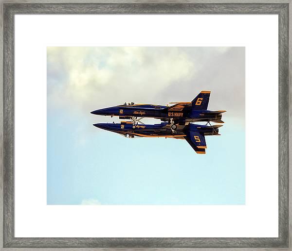 Framed Print featuring the photograph Blue Angels 1 by Gigi Ebert
