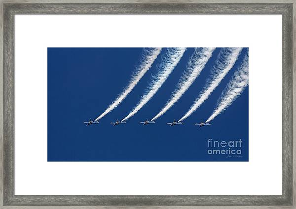 Blue Angels Formation Framed Print