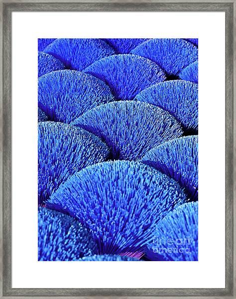 Blue Asia Sound Framed Print