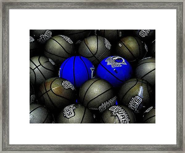 Blue Balls Framed Print