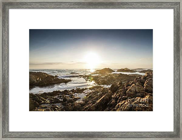 Blue Beach Beauty Framed Print