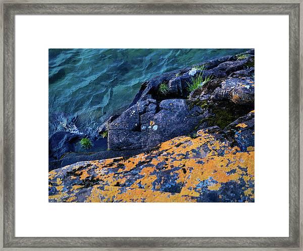 Blue Beach Framed Print