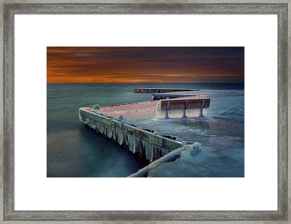 Blue Bench Framed Print